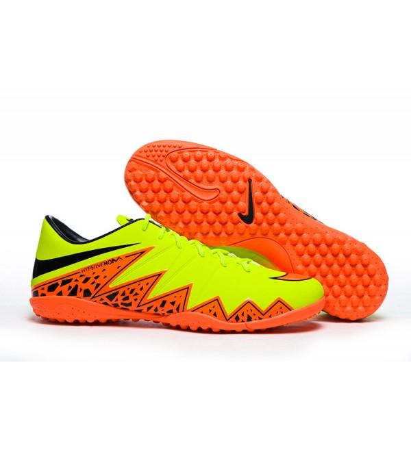 4247c5ddc8c ... 2015 nike hypervenom phelon 2 tf football boots yellow orange black