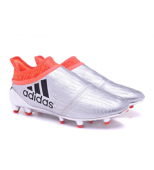 SILVER ORANGE ADIDAS X 16 PURECHAOS FG AG FOOTBALL BOOTS - Buy best ae776b1c4e
