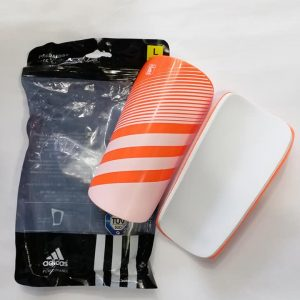 Lite Orange and white Shin guards