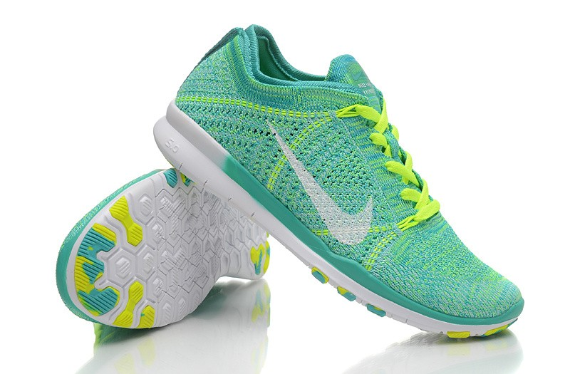 buy popular 5ac3d 5a9f4 NEW RELEASE NIKE FREE FLYKNIT 5.0 KNIT VAMP MENS RUNNING SHOES GREEN YELLOW  - Buy best