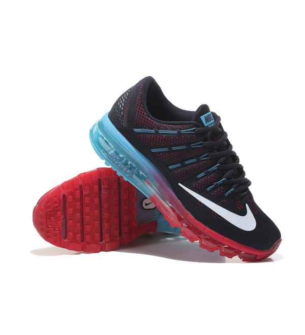 CHEAP AIR MAX 2016 LEATHER BLACK RED BLUE - Buy best 9ef0bb7258