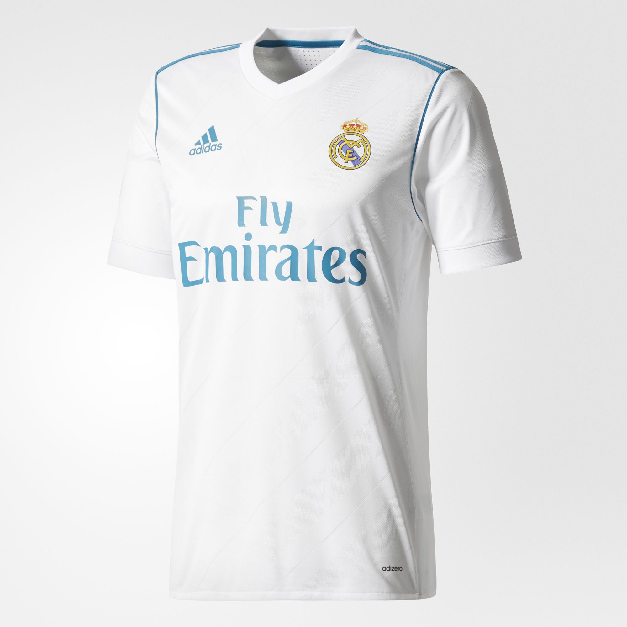 new style 7d62d 529e8 REAL MADRID WHITE HOME AUTHENTIC JERSEY