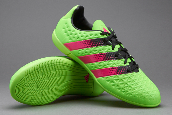 the best attitude 282ab cb90d ADIDAS ACE 16.1 PRIMEMESH INDOOR SOCCER SHOES – SOLAR GREEN   SHOCK PINK