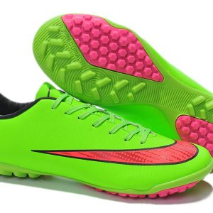 Latest 2014 World Cup Nike Mercurial Victory TF X Football Boots Green pink d111d0f334